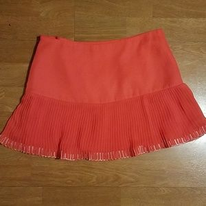 Parker Pleated Embroidered Miniskirt